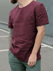 Men's Solid Short Sleeve Casual Shirts & Tops