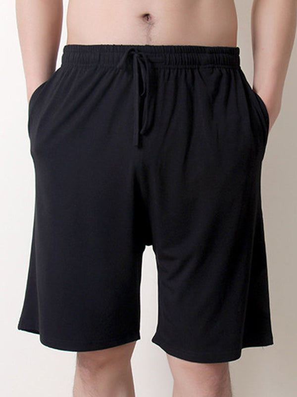 Men's Modal Elastic Waist Casual Solid Loose Thin Shorts