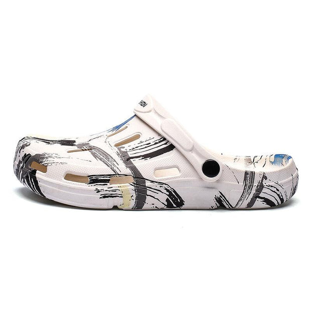 Men's Closed Toe Printed Outdoor Beach Water Hole Sandals