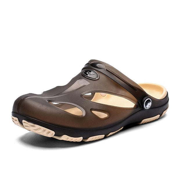 Men's Hole Slip On Round Toe Light Weight Beach Water Shoes