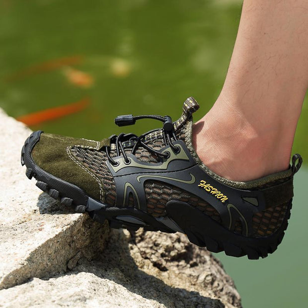 Men's outdoor hiking shoes mesh shoes breathable casual light