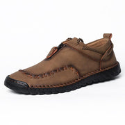 Men's Hand-stitched Cow Leather Non Slip Outdoor Casual Shoes