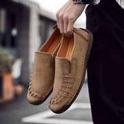 Men's Hand-stitched Cow Leather Vintage Outdoor Casual Loafers