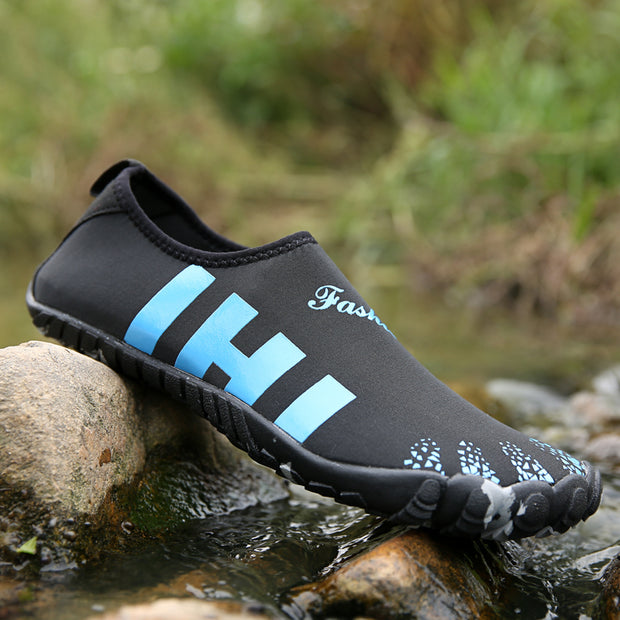 Men's Large Size Fabric Multifunctional Snorkeling Water Shoes