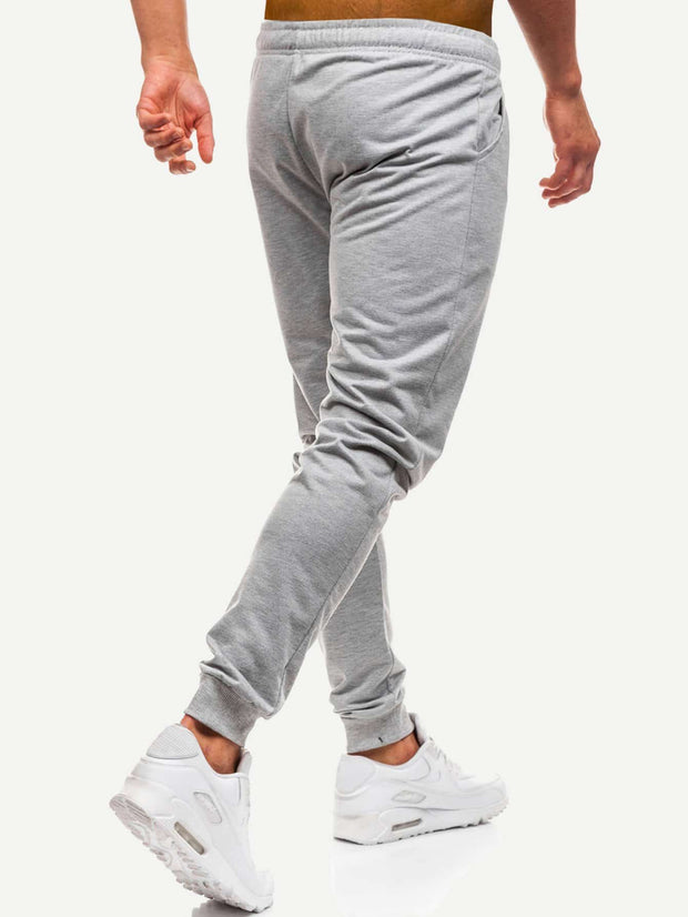 Men Solid Drawstring Pants