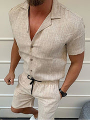 Men's casual solid color jumpsuit