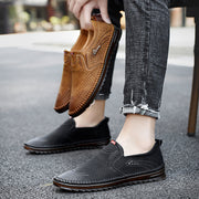 Men's Lace-Up Suede Leather Loafers Casual Shoes Driving Shoes