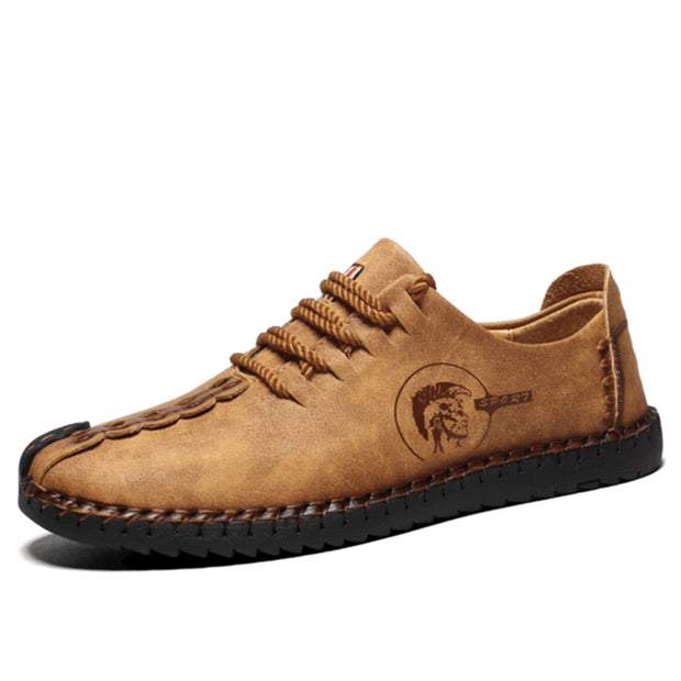 Men's British Style Handmade Shoes Flat Shoes Mens Loafers
