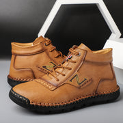 Men's Leather Soft Sole Non Slip Casual Driving Shoes