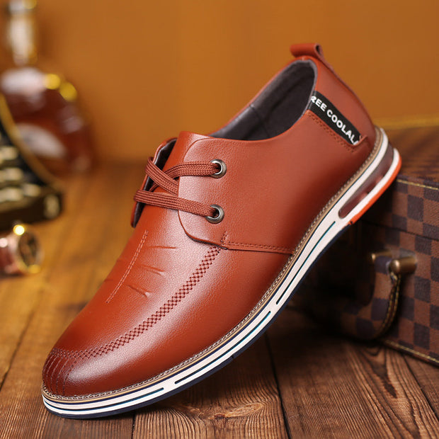 Men Microfiber Leather Non Slip Soft Air-cushionSole Casual Driving Shoes