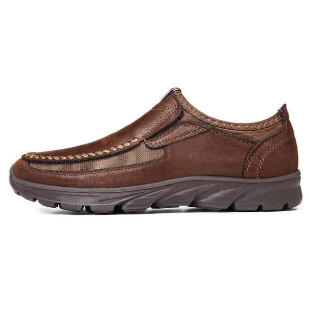 Men Large Size Microfiber Leather Non-slip Casual Shoes