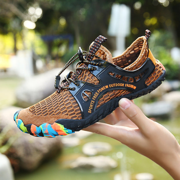 Men Outdoor Walking Shoes Trainers Breathable Slip-on Casual sneakers