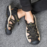 Men's Summer Soft Comfortable Outdoor Genuine Leather Sandals