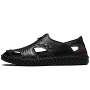 Men's casual breathable Large Size handmad leather sandals