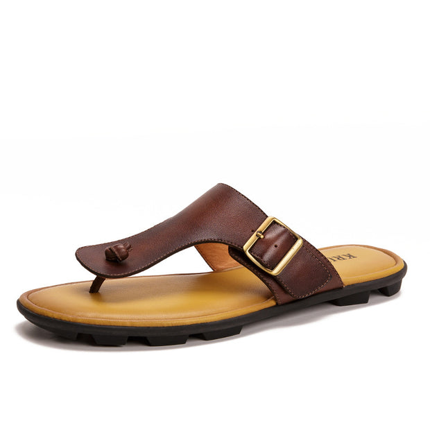 Men's Retro Outdoor Non-slip Beach Sandals Flip Flops