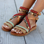 Women's Ethnic Style Hanging Beads Bohemian Sandals