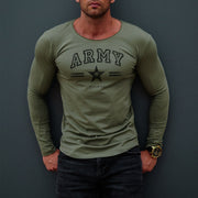 "Mens Long Sleeve T-shirt ""ARMY"" MD944"