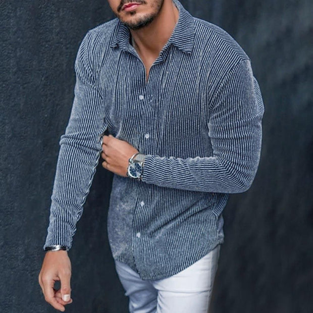 Men's Casual Striped Shirt