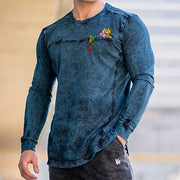 Men's Casual Knitted Print Pullover