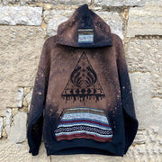 Men's casual tribal triangle print hoodie
