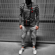Men's Striped Knitted Pullover