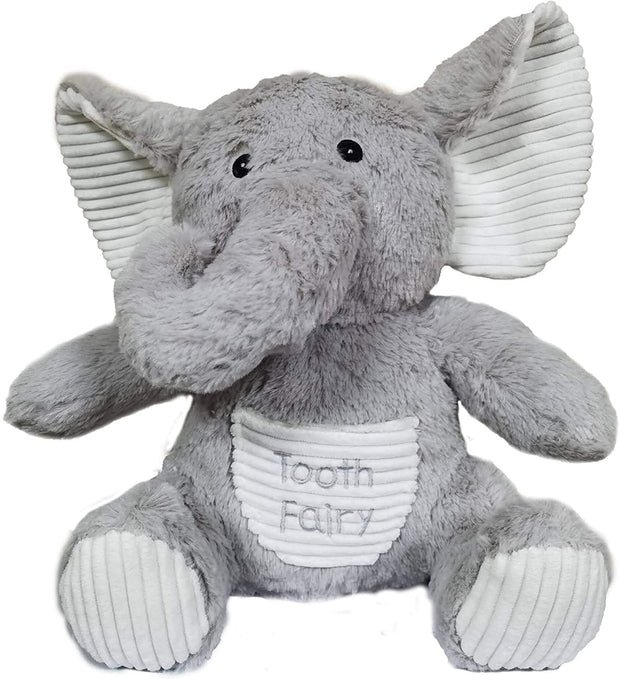 Elephant Tooth Fairy Plush | Tooth Fairy Pillow | Fairy Animals Plush Toy | Tooth Fairy Pillow Stuffed Elephant Pillow | Plush Toy with Pocket | 8Inches Tall