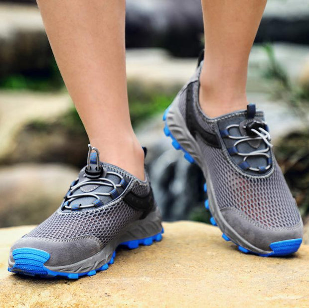 Men's Hollow Breathable Recreational Mesh Mountaineering Shoes