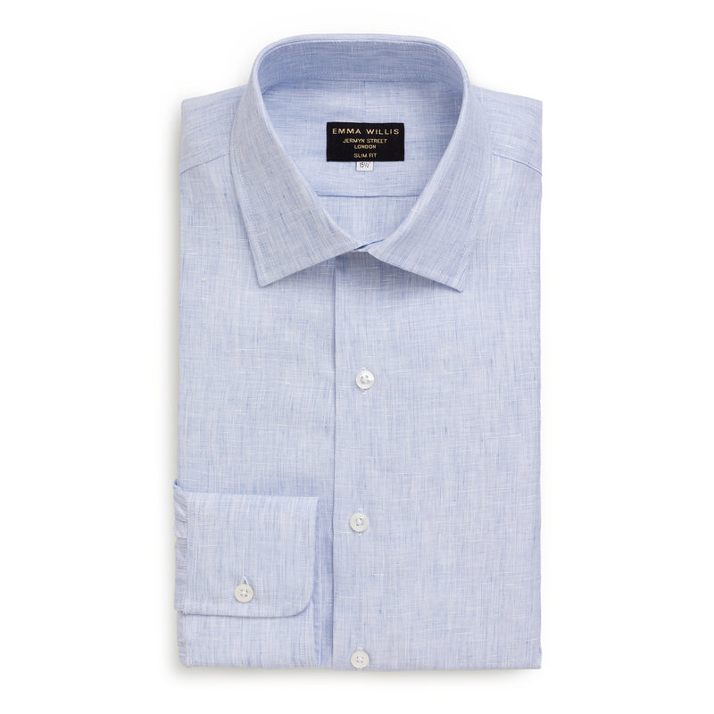 Pale Blue Linen Shirt