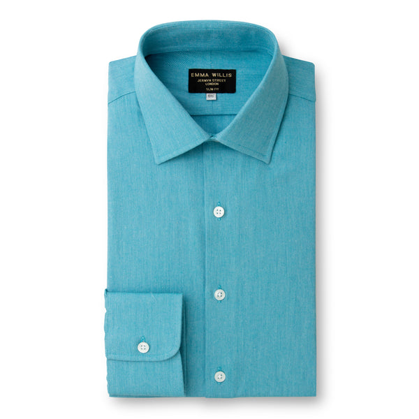 Aqua Brushed Cotton shirt