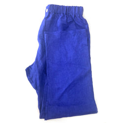 Cobalt Linen Pyjama Bottoms