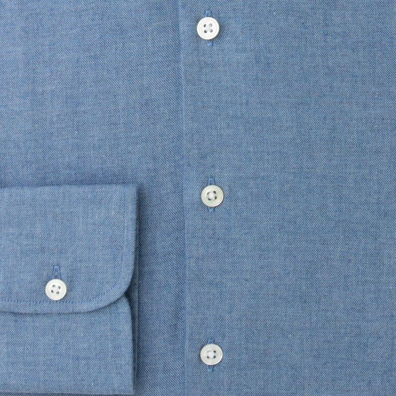 Faded Denim Brushed Cotton shirt