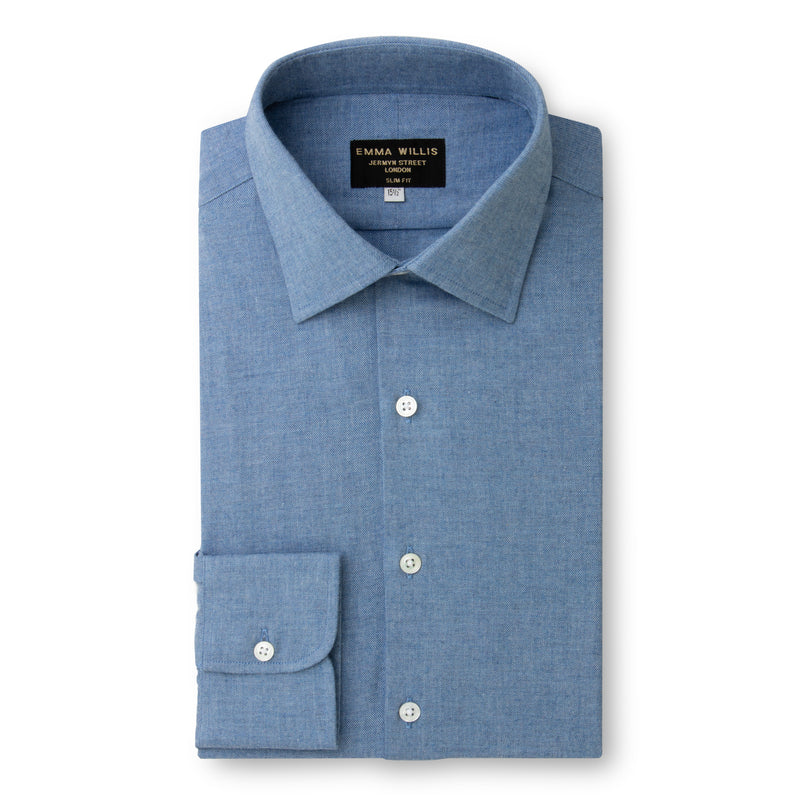 Faded Denim Brushed Cotton shirt - Bespoke