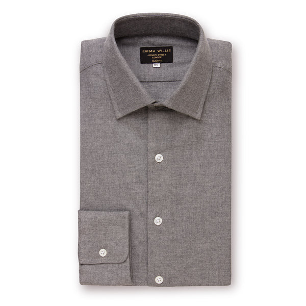 Grey Brushed Cotton shirt - New