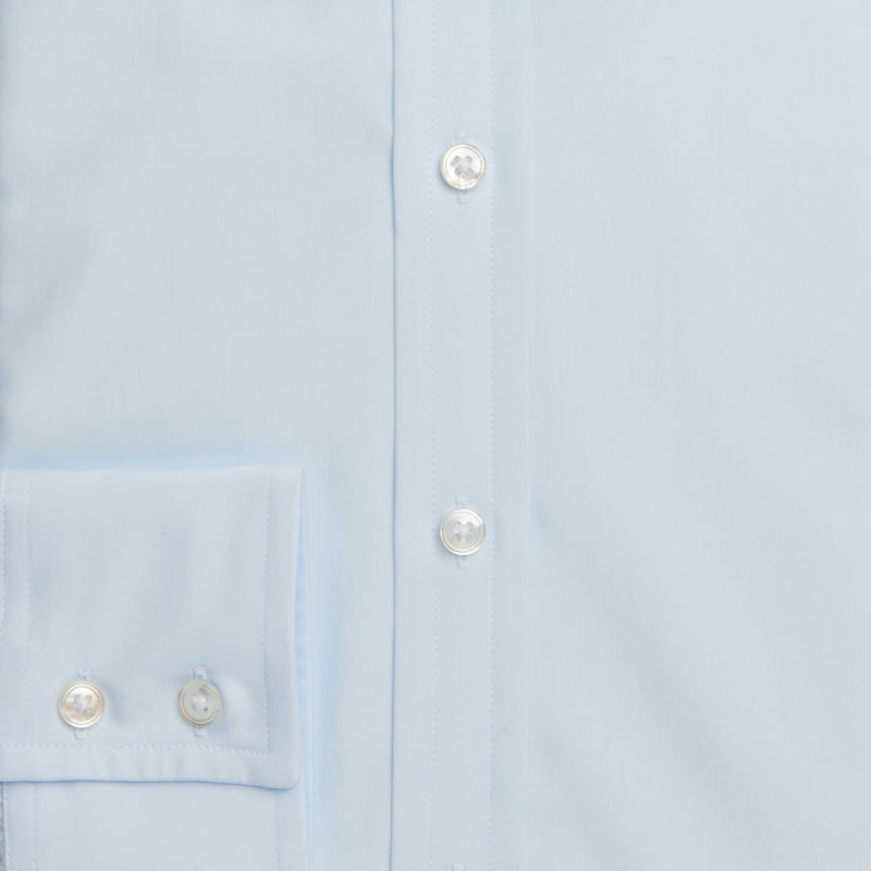 Ice Blue Sea Island Cotton Ready to wear shirt