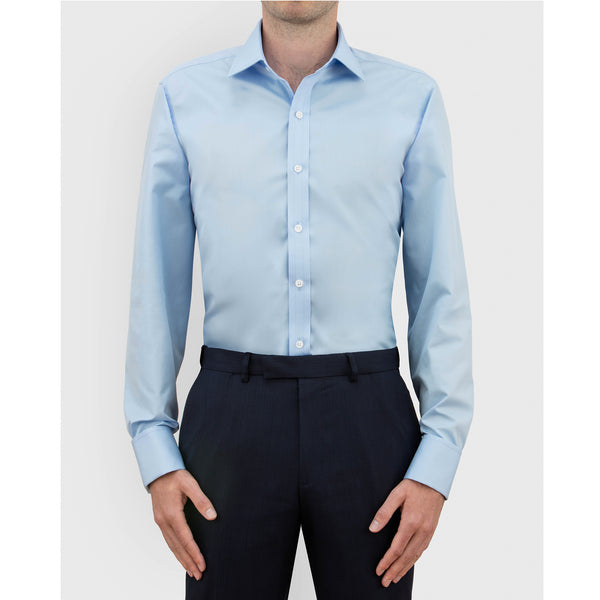 Ice Blue Authentic Sea Island Cotton Shirt