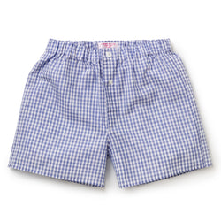 Navy Gingham Zephirlino Boxer Shorts
