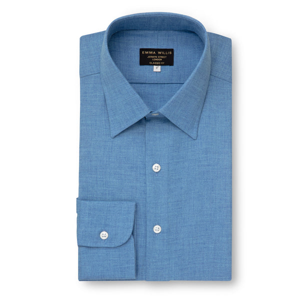 Azure Brushed Cotton shirt