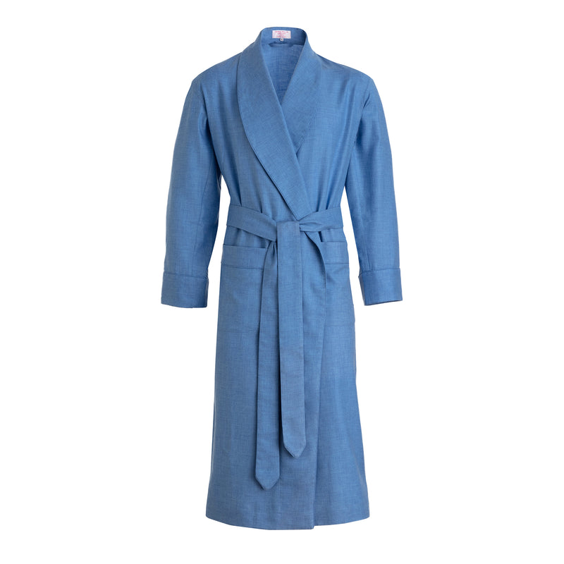 Azure Brushed Cotton Dressing Gown