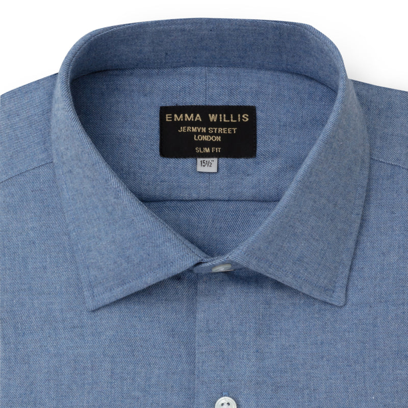 Blue Brushed Cotton shirt