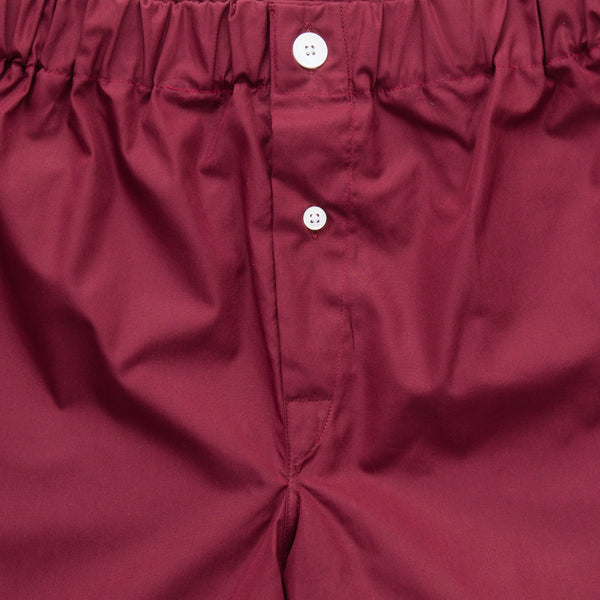 Claret Superior Cotton Boxer Shorts
