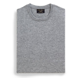 Grey Cashmere Crew Neck Jumper