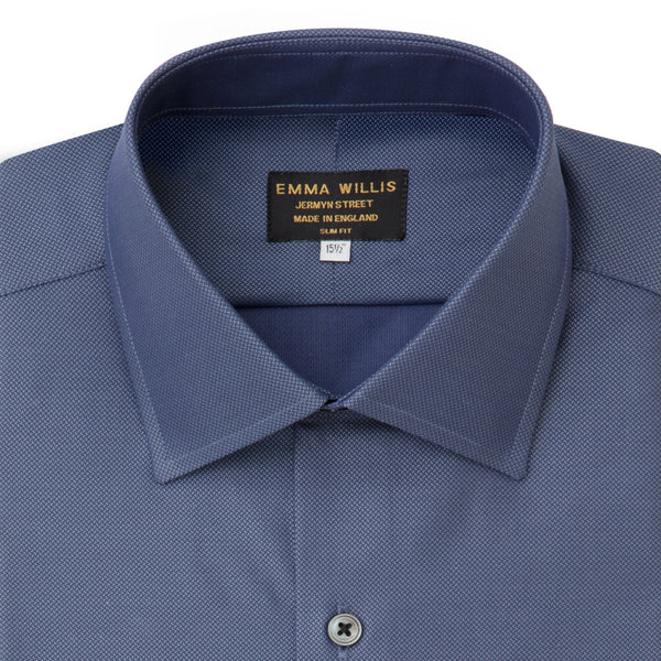 Navy Chambray Herringbone Ready to wear shirt