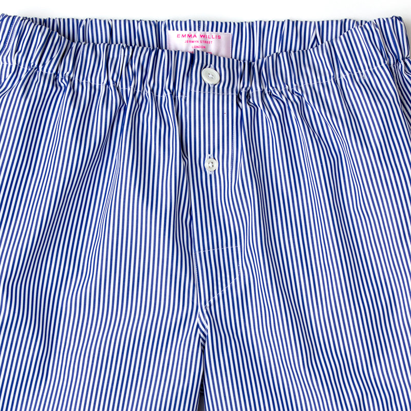 Navy Bengal Stripe Cotton Boxer Shorts