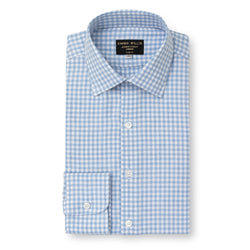 Sky Check Brushed Cotton shirt