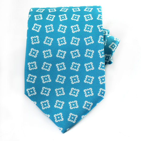 Teal Medallion Silk Tie