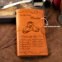 Personalized Leather Journal For Husband/Wife - You Are The Beat Of My Heart