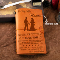 Personalized Leather Journal For Wife - How Special You Are To Me