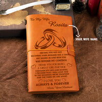 Personalized Leather Journal For Wife - Becoming Your Husband Was A Choice