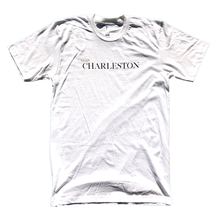 843 Shop Charleston with Halo Tee - White (Unisex)