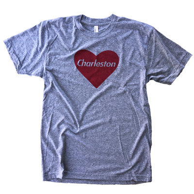 843 Shop Heart Charleston Tee - Grey (Unisex)